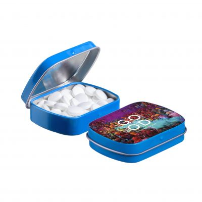 Mini Klappdeckeldose blau(PE0041400)