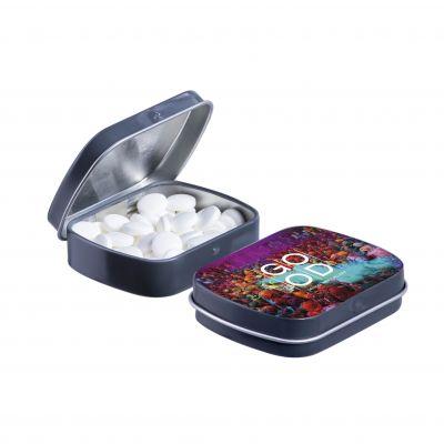 Mini Klappdeckeldose dunkelgrau(PE0039600)