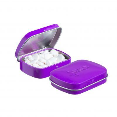 Geprägte Mini Klappdeckeldose pink incl. vollfarbigem Druck(PE0042900)