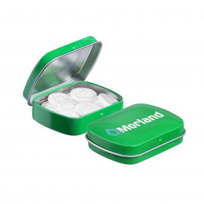 Mini Klappdeckeldose Logo Pfefferminz grün(PE0044800)
