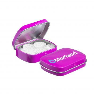 Mini Klappdeckeldose Logo Pfefferminz pink(PE0045600)