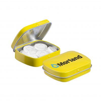 Mini Klappdeckeldose Logo Pfefferminz gelb(PE0046000)