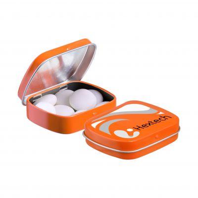 Mini Klappdeckeldose Mentos orange(PE0052400)