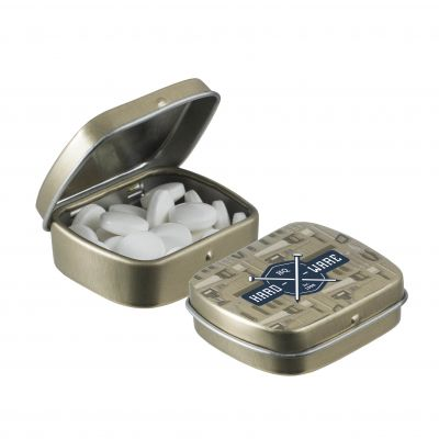 Micro Klappdeckeldose gold incl. vollfarbigem Druck(PE0055000)