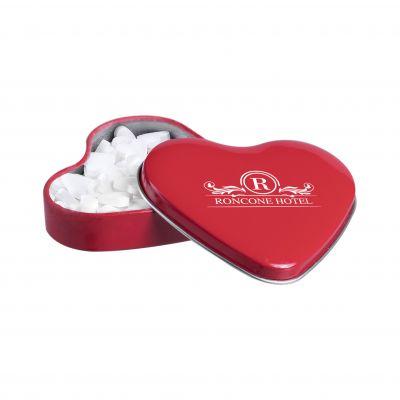 Herzförmige Dose rot(PE0058400)