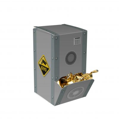 Display box safe gold incl. vollfarbigem Druck(PE0065500)