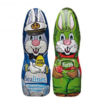 Schokolade Osterhase in Alufolie silber(PE0073400)
