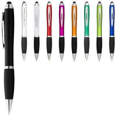 Nash Stylus bunter Kugelschreiber mit schwarzem Griff PF1118704