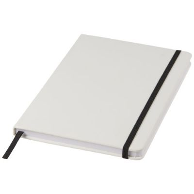 Spectrum weißes A5 Notizbuch mit farbigem Gummiband PF1160401