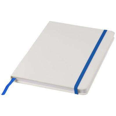 Spectrum weißes A5 Notizbuch mit farbigem Gummiband PF1160402