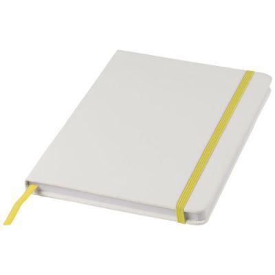Spectrum weißes A5 Notizbuch mit farbigem Gummiband PF1160406