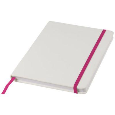 Spectrum weißes A5 Notizbuch mit farbigem Gummiband PF1160407