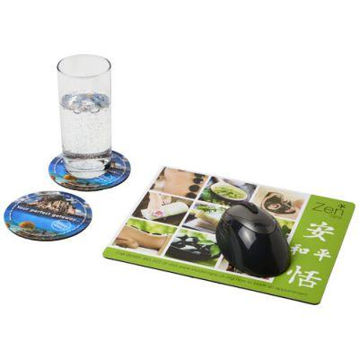 Q-Mat® Mousepad- und Untersetzer-Set 2 PF1139600