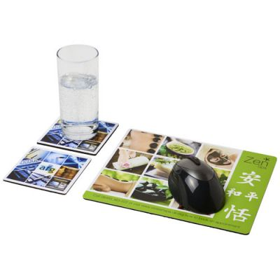 Q-Mat® Mousepad- und Untersetzer-Set 3 PF1139700