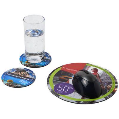 Q-Mat® Mousepad- und Untersetzer-Set 5 PF1139900