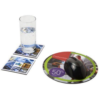 Q-Mat® Mousepad- und Untersetzer-Set 6 PF1140000
