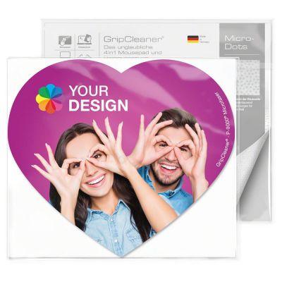 GripCleaner® 4in1 Mousepad Herz 23x20cm bunt (PC0002700)