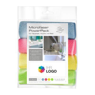 Microfaser PowerPack mit Werbe-Etikett Haushalt bunt (PC0012300)