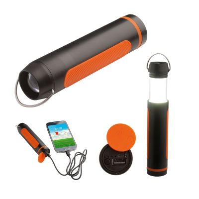 Campinglampe mit Powerbank REFLECTS