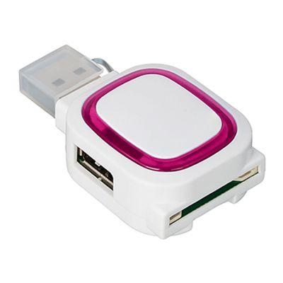 USB-Hub mit 2 Hubs und Speicherkartenlesegerät REFLECTS