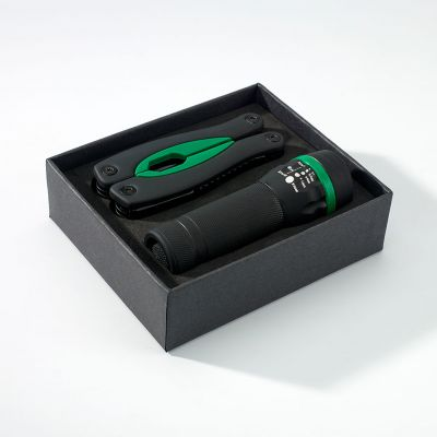 Gummiertes Set: Grosses Multitool Und Taschenlampe Rubby - RG0000502