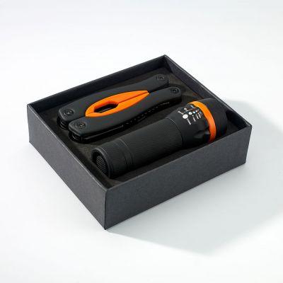 Gummiertes Set: Grosses Multitool Und Taschenlampe Rubby - RG0000504