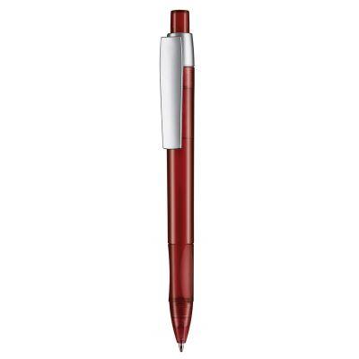 Kugelschreiber CETUS TRANSPARENT rot