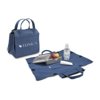 Picknicktasche, 2in1 Kühltasche und Sitzunterlage blau - RO0048700