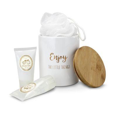 Wellness-Geschenkset: Enjoy weiß-gold - RO0049800