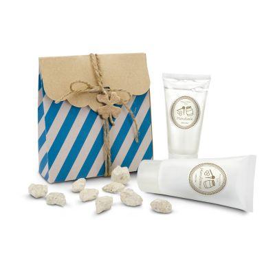 Wellness-Geschenkset: Kleines Glück blau-weiß - RO0049900