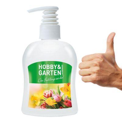 300 ml PET Spender weiß - Profi-Handwaschpaste - Body Label (VS & RS) SA0016700 bedrucken