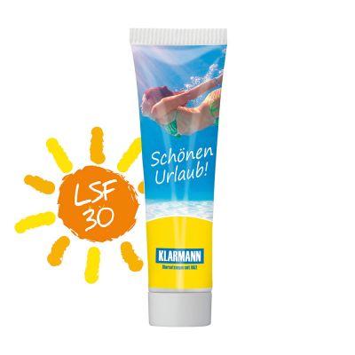 20 ml Tube, weiß - Sonnenmilch LSF 30 - RealityPrint SA0022100 bedrucken