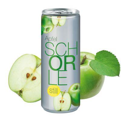 """250 ml Apfelschorle """"still"""" - Fullbody transp. (Pfandfrei) SA0001400 bedrucken"""