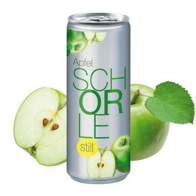"""250 ml Apfelschorle """"still"""" - No Label Look (Pfandfrei) SA0001500 bedrucken"""