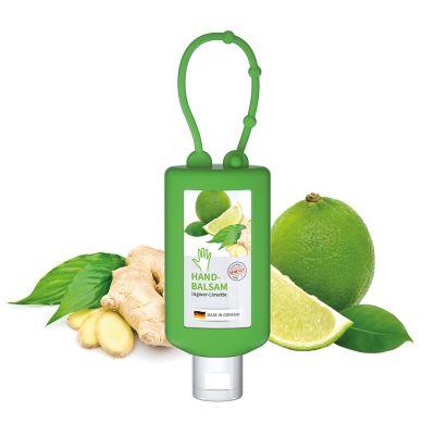 "50 ml Bumper grün - Handbalsam ""Ingwer - Limette"" - Body Label SA0011600 bedrucken"