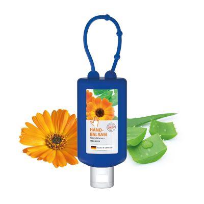 "50 ml Bumper blau - Handbalsam ""Ringelblume - Aloe Vera"" - Body Label SA0012800 bedrucken"