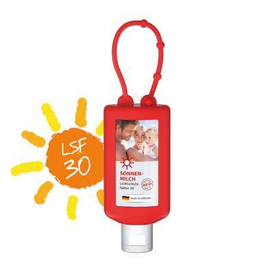 50 ml Bumper rot - Sonnenmilch LSF 30 - Body Label SA0022800 bedrucken