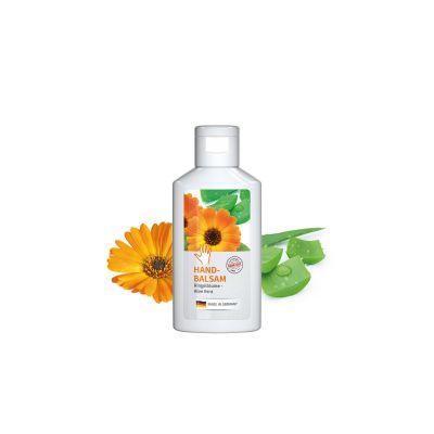 """50 ml Flasche weiß - Handbalsam """"Ringelblume - Aloe Vera"""" - Body Label SA0012500 bedrucken"""