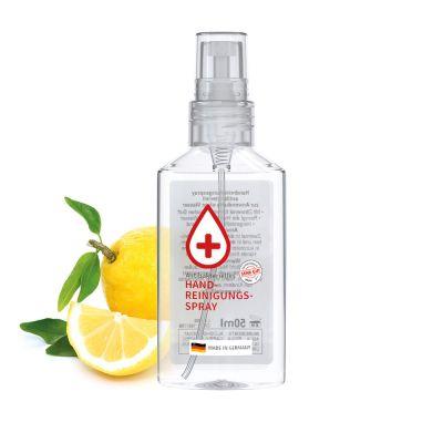 50 ml Spray transp. - Handreinigungsspray antibakteriell - No Label Look SA0010300 bedrucken