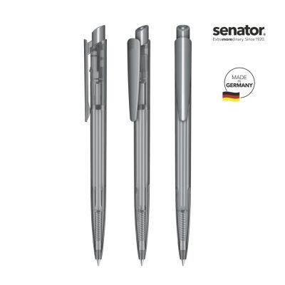 senator® Dart Clear Druckkugelschreiber dunkelgrau SE0003102