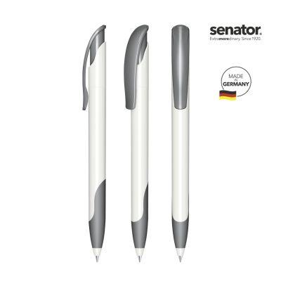 senator® Challenger Polished Basic SG Druckkugelschreiber weiß-grau SE0002306