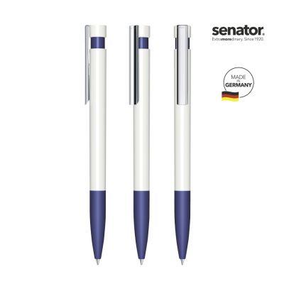 senator® Liberty Polished Basic SG MC Druckkugelschreiber weiß-blau SE0008208