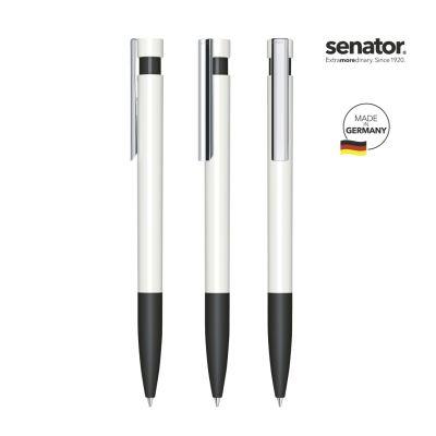 senator® Liberty Polished Basic SG MC Druckkugelschreiber weiß-schwarz SE0008205