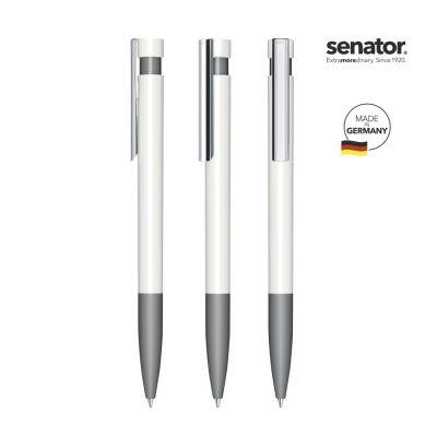senator® Liberty Polished Basic SG MC Druckkugelschreiber weiß-grau SE0008206