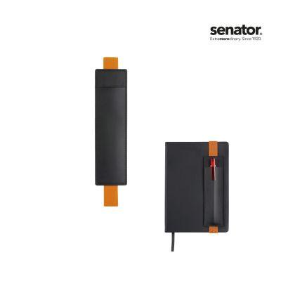senator® STECKETUI SOFT Notitzbuch schwarz-orange SE0012602
