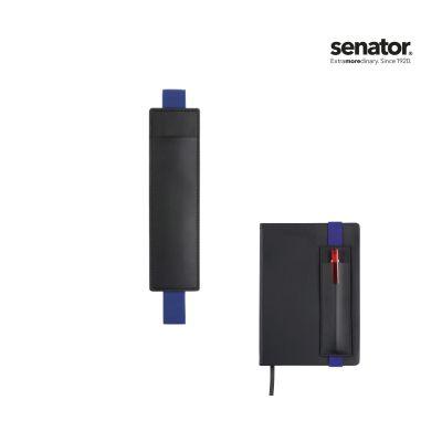 senator® STECKETUI SOFT Notitzbuch schwarz-dunkelblau SE0012606