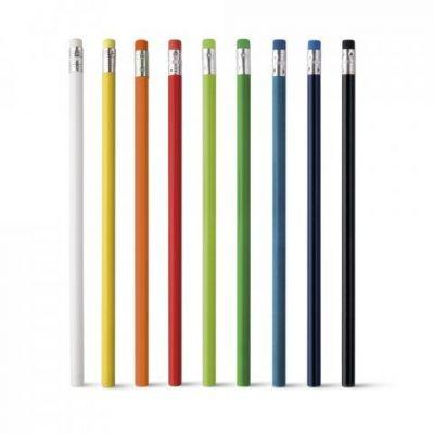 Farbinges Bleistift Set mit Radiergummi schwarz ST0014601