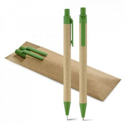 LEAF. Umweltfreundliches Schreibset mit Kugelschreiber und Minenbleistift grün ST0016800