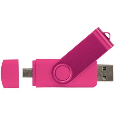 USB OTG 16 GB Flash Drive Twister mit Doming LT26854