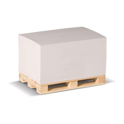 Zettelblock aus recycelten Papier auf einer Holzpalette 12 x 8 x 6cm LT91846